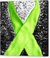 Lyme Disease Awareness Ribbon Acrylic Print