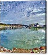 Lyme Regis Harbour -- Painterly Acrylic Print