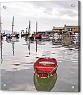 Lyme Regis Harbour Abstract Acrylic Print