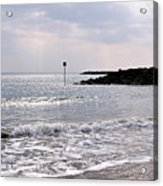 Lyme Regis Seascape - March Acrylic Print