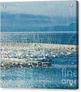 Lyme Regis Under Glass Acrylic Print