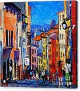 Lyon Colorful Cityscape Acrylic Print