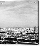 Lyon From The Basilique De Fourviere-bw Acrylic Print