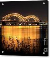 The Hernando De Soto Bridge M Bridge Or Dolly Parton Bridge Memphis Tn  Acrylic Print