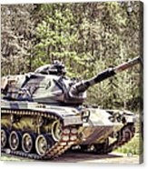 M60 Patton Tank Acrylic Print by Olivier Le Queinec