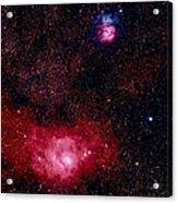 M8 The Lagoon Nebula And M20 The Trifid Acrylic Print