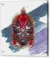 Maasai Mask - The Rain God Ngai Acrylic Print