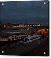 Maastricht Nine Days Before Christmas Acrylic Print by Nop Briex