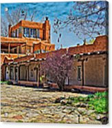 Mabel Dodge Luhan's Courtyard Acrylic Print