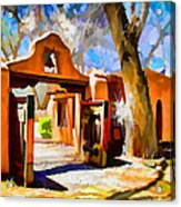 Mabel's Gate As Oil Painting Acrylic Print