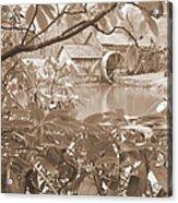 Mabry Mill In Sepia Acrylic Print
