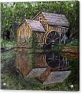 Mabry Mill Oil On Slate Acrylic Print
