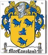 Maccausland Coat Of Arms Irish Acrylic Print