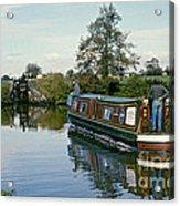 Macclesfield Canal 1975 Acrylic Print by David Davies