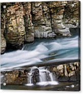 Macdonald Creek Falls Glacier National Park Acrylic Print