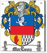 Macevoy Coat Of Arms Meath Ireland Acrylic Print