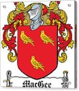 Macgee Coat Of Arms I Irish Acrylic Print