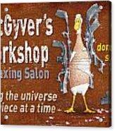 Macgyvers Workshop Acrylic Print