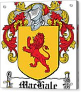 Machale Coat Of Arms Irish Acrylic Print