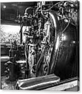 Machine Of The Old Train Acrylic Print