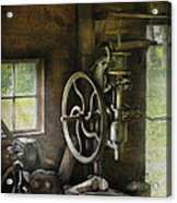 Machine Shop - An Old Drill Press Acrylic Print