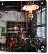 Machine Shop With Lantern Acrylic Print