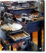 Machine Shop With Punch Press Acrylic Print