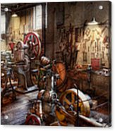 Machinist - A Room Full Of Memories  Acrylic Print by Mike Savad