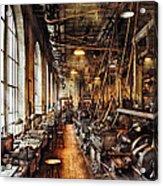 Machinist - Machine Shop Circa 1900's Acrylic Print