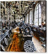 Machinist - Precision Matters Acrylic Print by Paul Ward