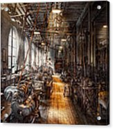 Machinist - Welcome To The Workshop Acrylic Print by Mike Savad