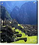 Machu Picchu And Urubamba Canyon Acrylic Print