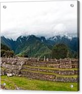 Machu Picchu Main Square And The Group Of The Three Doorways Acrylic Print