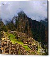 Machu Picchu Overlook Acrylic Print