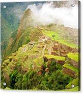 Machu Picchu Textured 2 Acrylic Print
