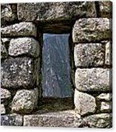 Machu Picchu Window Acrylic Print