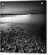Mackinac Bridge Bw Acrylic Print
