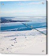 Mackinac Bridge In February Acrylic Print