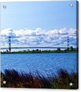 Mackinac Bridge Landscaped Acrylic Print