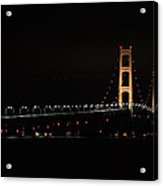 Mackinac Bridge Night Shot II Acrylic Print