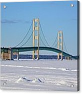 Mackinac In March Acrylic Print