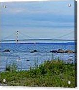 Mackinaw Bridge At Dusk Acrylic Print