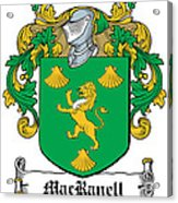 Macranell Coat Of Arms Leitrim Ireland Acrylic Print