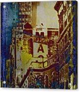 Macys Three - Neo-grundge - Famous Buildings And Landmarks Of New York City Acrylic Print