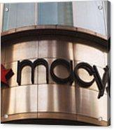 Macys Signage Acrylic Print