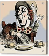 Mad Hatter Color Acrylic Print by John Tenniel