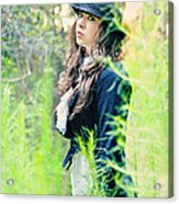 Mad Hatter Acrylic Print by Stephanie Necessary