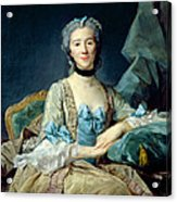 Madame De Sorquainville, 1749 Oil On Canvas Acrylic Print