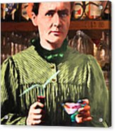 Madame Marie Curie Shaking Up A Killer Martini At The Swank Hipster Club 88 20140625 Acrylic Print