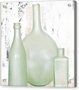 Made In India Sea Glass Bottles Acrylic Print by Marsha Heiken